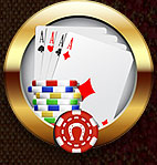Click to play FREE online Three Card Poker Game